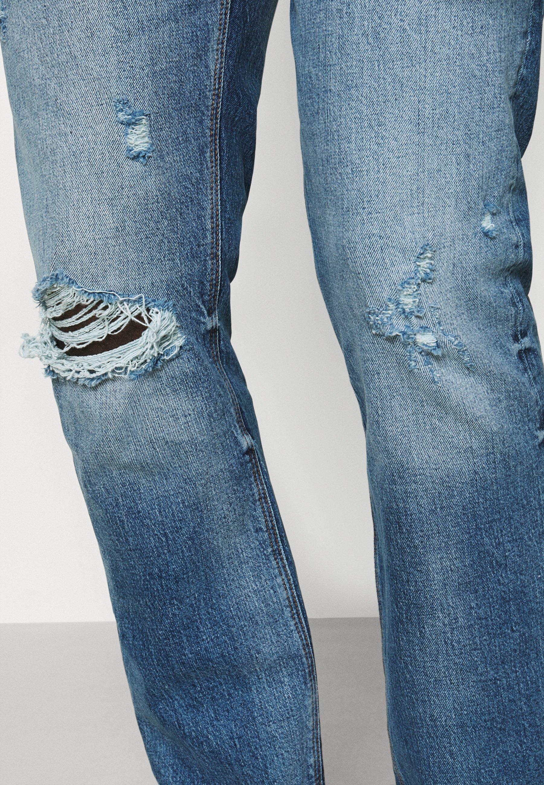 River Island Jeans Straight Leg - Mid Blue
