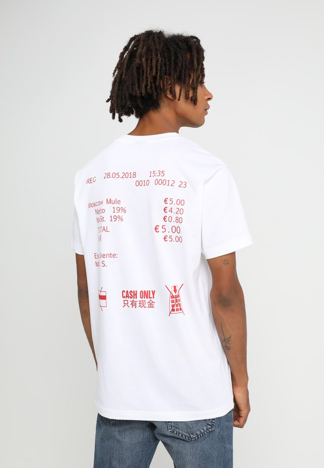 CASH ONLY TEE - T-shirt imprimé - white