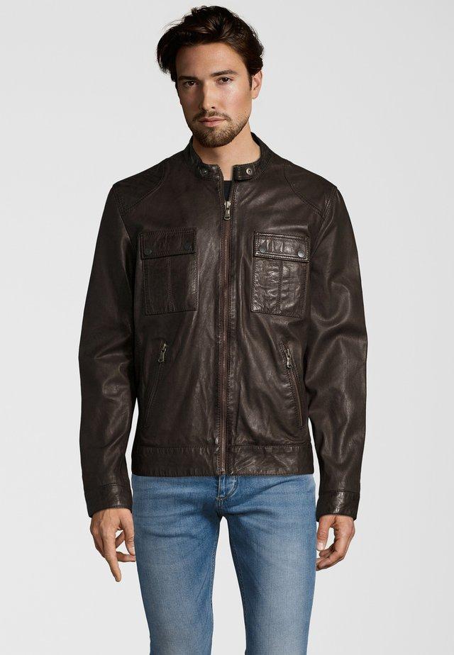 NEBRASKA  - Leather jacket - brown