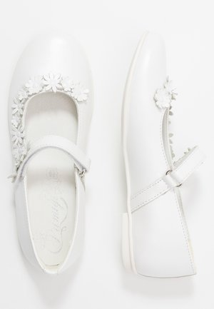 Ankle strap ballet pumps - bianco