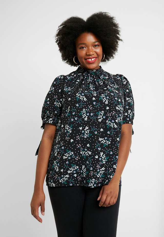 RON STAR FLORAL - Blouse - black