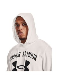 Under Armour - RIVAL TERRY BIG LOGO HD-WHT - Hoodie - onyx white - 3