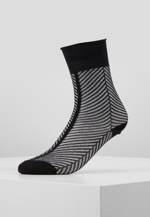 HEDVIG HERRINGBONE - Socks - black