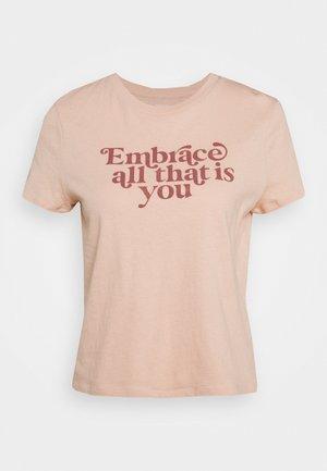 SHRUNKEN TEE - Print T-shirt - buff pink