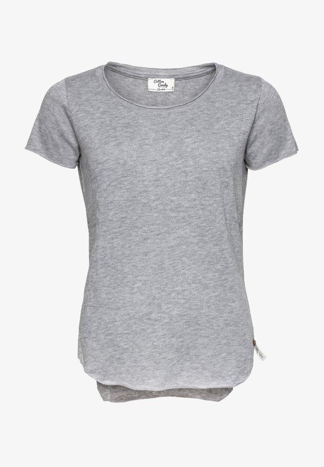 Basic T-shirt - grey mel.