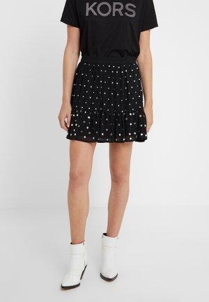 NAIL FLOUNCE SKIRT - A-line skirt - black
