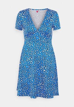 FLARE LEO PRINT DRESS - Jersey dress - blue