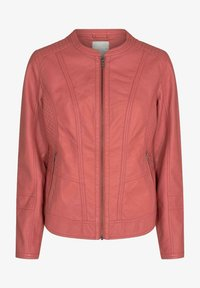 Soyaconcept - Faux leather jacket - coral - 0