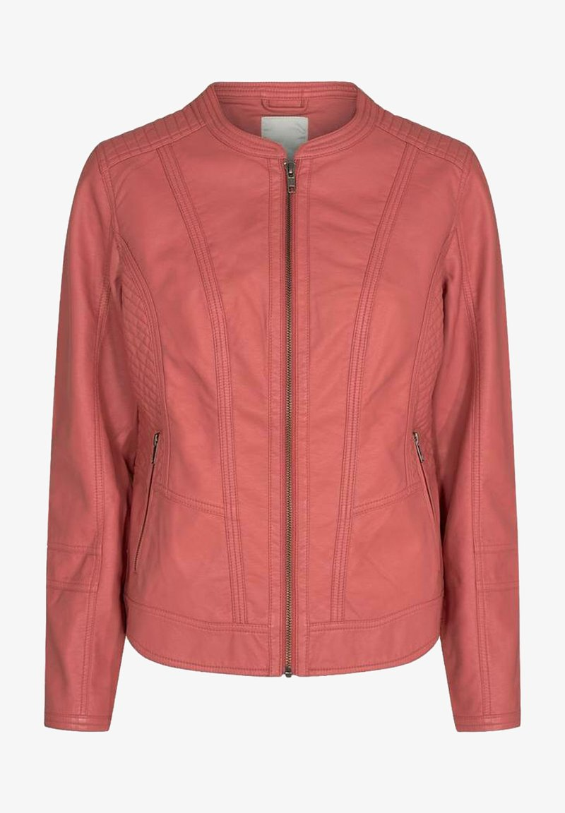 Soyaconcept - Faux leather jacket - coral