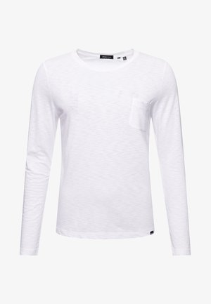 SCRIPTED LONG SLEEVED - Long sleeved top - brilliant white