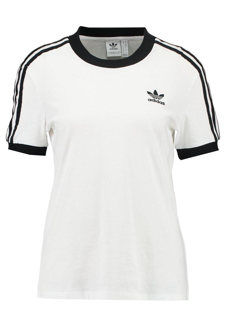 adidas Originals ADICOLOR  STRIPES SHORT SLEEVE TEE - T-shirts print - white -  nLs4h