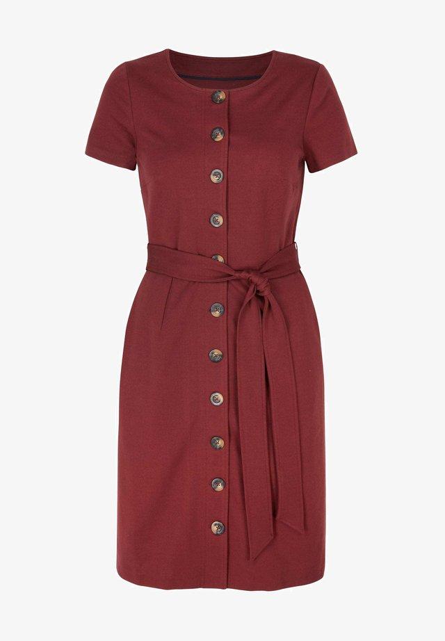 BEATRICE PONTE - Day dress - rotbraun