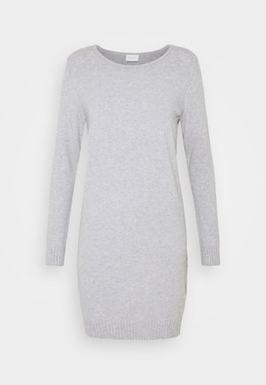 VIRIL DRESS - Pletené šaty - light grey melange