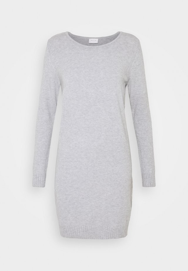 VIRIL DRESS - Neulemekko - light grey melange