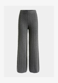 Guess - STRICKHOSE ZOPFMUSTER - Trousers - grau - 4