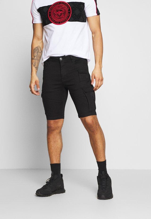 GLORIOUS GANGSTA ROGAN SKINNY - Shorts vaqueros - black
