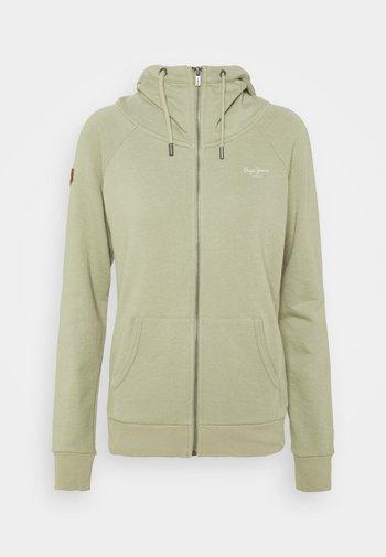 ANETTE - Zip-up sweatshirt - palm green