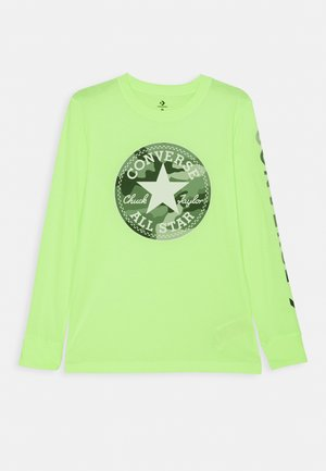 CAMO CHUCK PATCH TEE - Maglietta a manica lunga - ghost green heather
