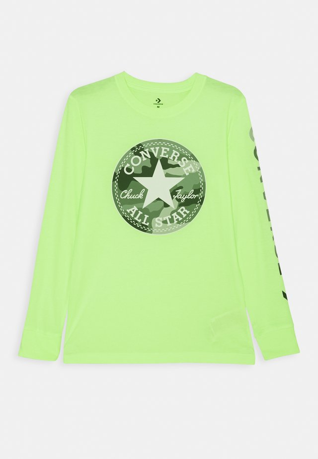CAMO CHUCK PATCH TEE - Long sleeved top - ghost green heather