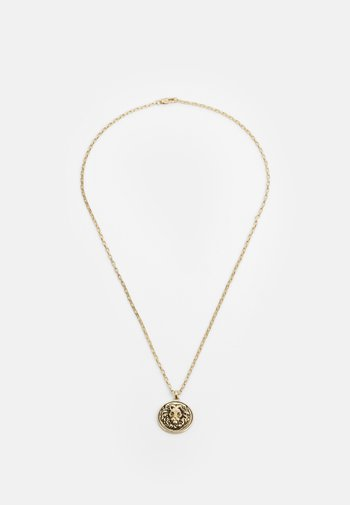 LION DISC PENDANT - Necklace - gold-coloured