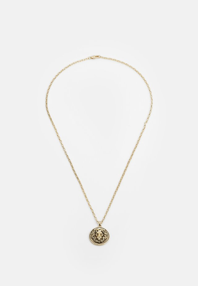 LION DISC PENDANT - Collar - gold-coloured