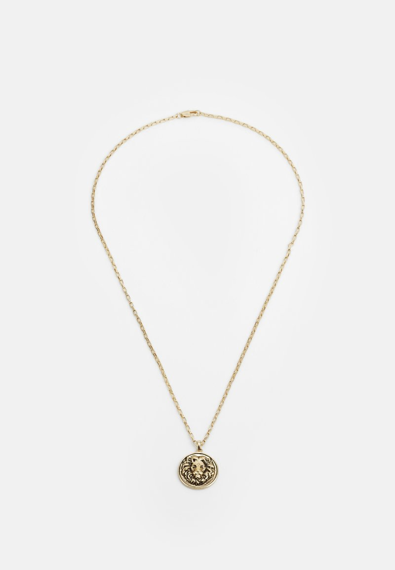 Topman - LION DISC PENDANT - Ketting - gold-coloured