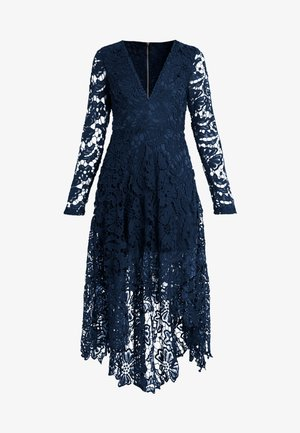 FRENCH ROSE HIGH LOW DRESS - Cocktailjurk - navy