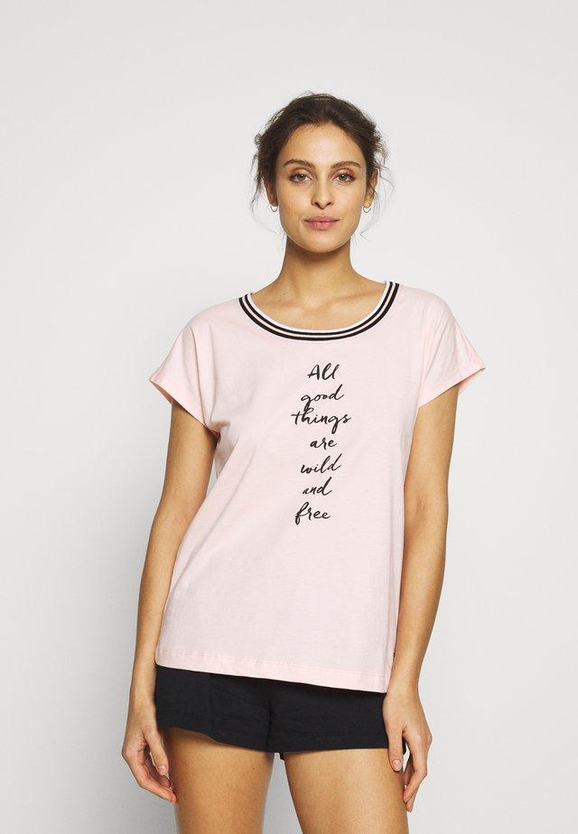 SHORTY SET - Pyjama - rose/black