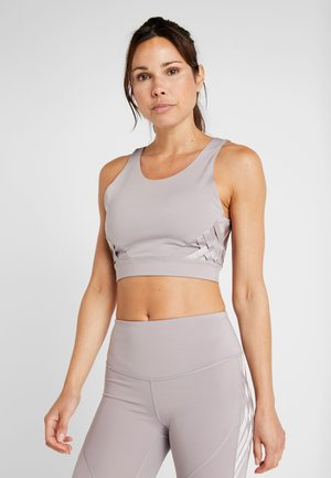MISTY CROP - Top - tetra gray