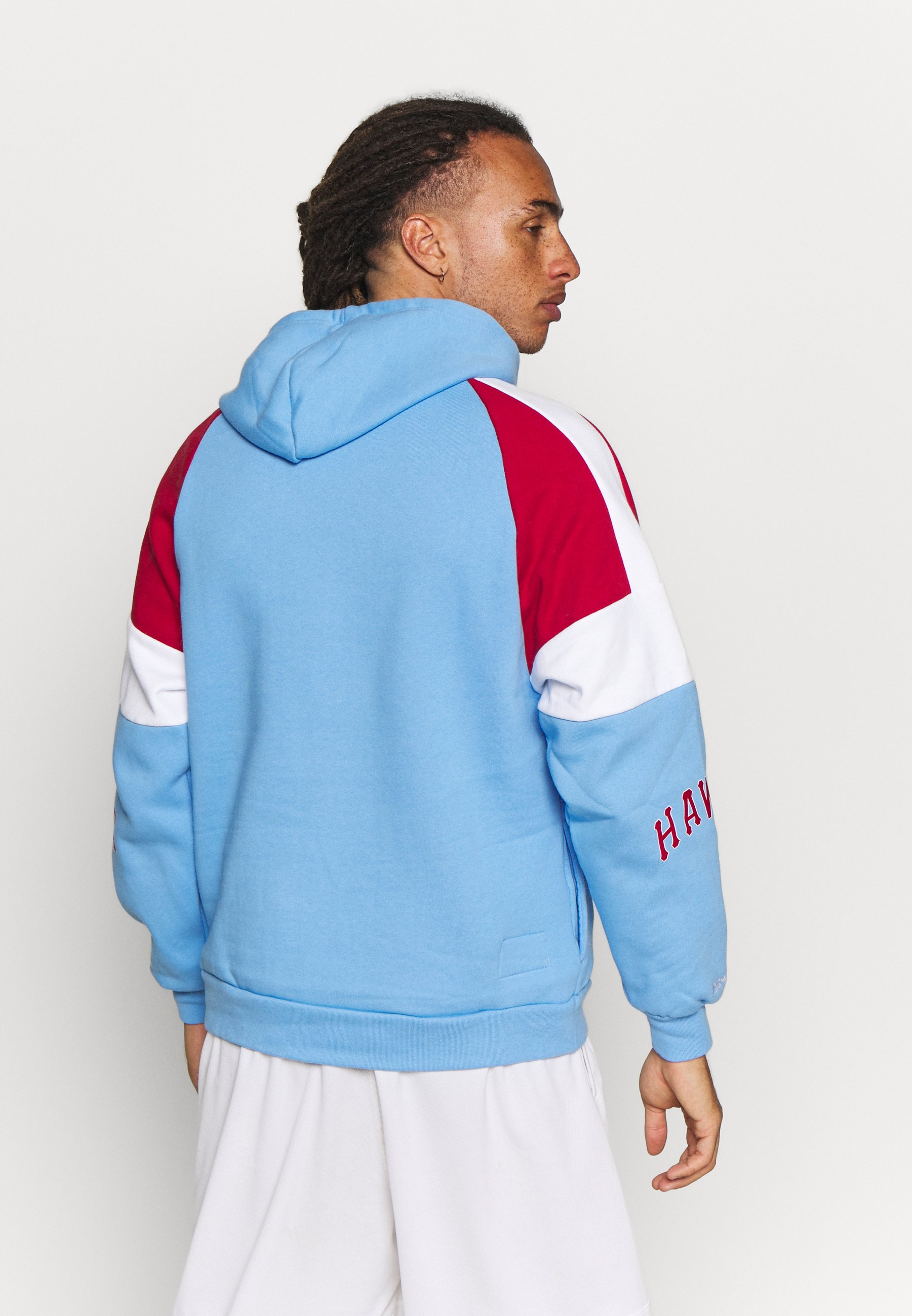 Mitchell & Ness NBA ATLANTA HAWKS INSTANT REPLAY HOODY - Article de supporter - light blue