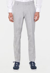WE Fashion - DALI - Suit trousers - blended light grey - 0