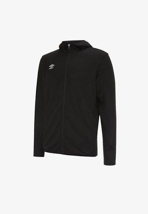 Fleece jacket - schwarzweiss