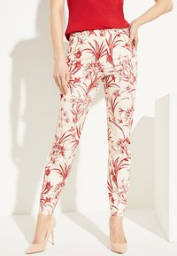 comma - MIT BLUMENMUSTER - Trousers - shell porcelain flower - 0