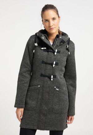 Krótki płaszcz - dunkelgrau melange