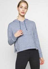 Nike Performance - YOGA HOODIE - Camiseta de manga larga - diffused blue - 0