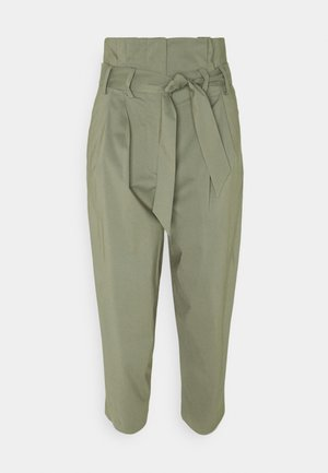 LIZA PAPERBAG SUMMER PANTS - Stoffhose - jungle