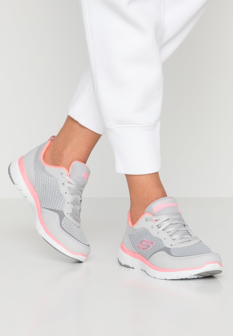 Skechers Sport - FLEX APPEAL 3.0 - Trainers - light gray/hot pink