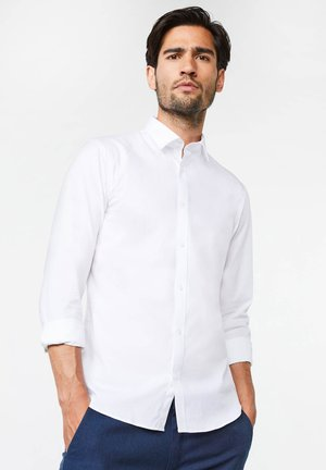 SLIM FIT STRETCH - Camisa - white