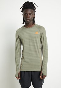 adidas Performance - RUNNER - Sports shirt - olive - 0