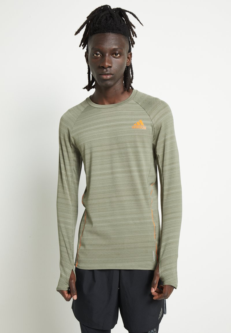 adidas Performance - RUNNER - Sports shirt - olive