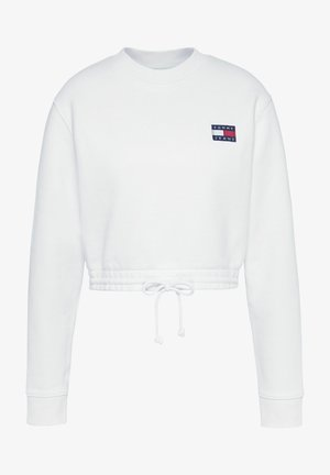 SUPER CROPPED BADGE CREW - Jumper - white
