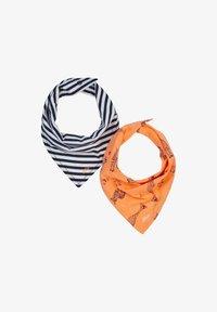 s.Oliver - 2 PACK - Bib - dark blue stripes/orange aop - 0
