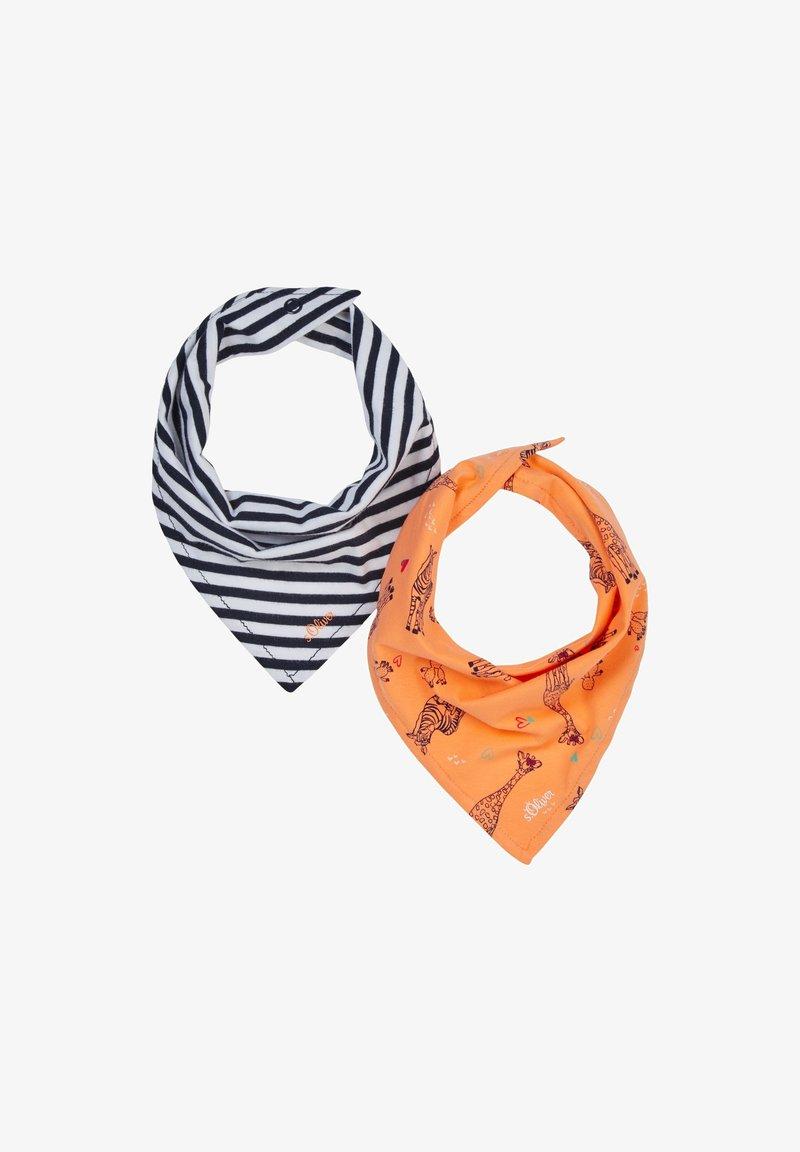 s.Oliver - 2 PACK - Bib - dark blue stripes/orange aop
