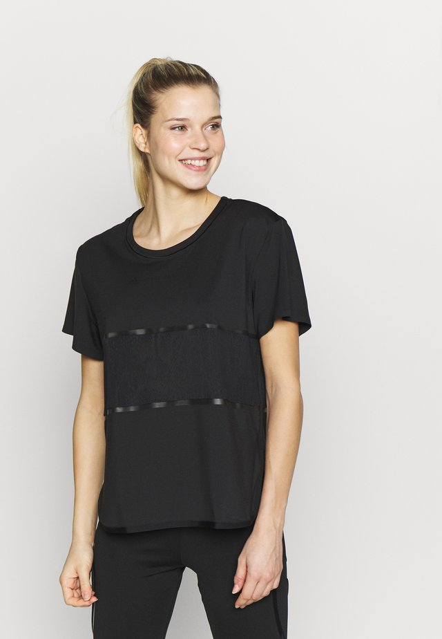 LOOSE TEE - T-shirt z nadrukiem - black