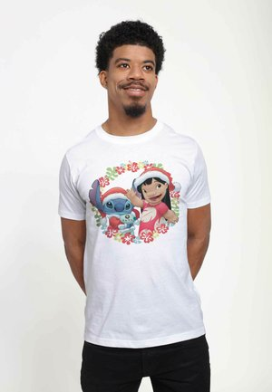 DISNEY CLASSICS UNISEX LILO AND STITCH HOLIDAY  - T-shirt print - white