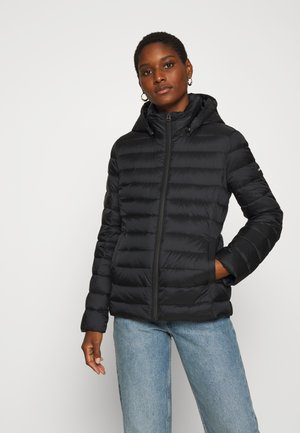 COATED ZIP LIGHT JACKET - Down jacket - black