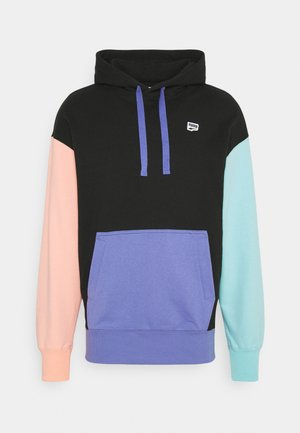 DOWNTOWN HOODIE - Jersey con capucha - black/multi color