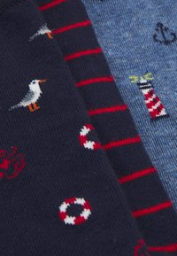 Pier One - 3 PACK - Socks - dark blue/mottled blue/red - 2