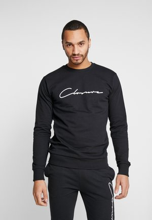 SCRIPT CREWNECK TRACKSUIT - Trainingspak - black