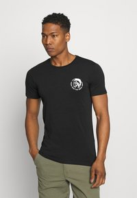 Diesel - UMTEE RANDAL 3 PACK - T-shirt basic - white/ grey melange/ black - 4